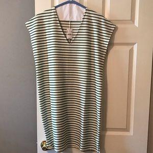 J Crew stripe cotton dress